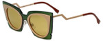 Fendi Designer Sunglasses FF0117-IC7 in Khaki Pink 49mm