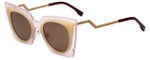 Fendi Designer Sunglasses FF0117-LAQ in Light Pink Peach 49mm