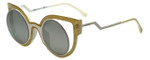 Fendi Designer Sunglasses FF0137-NU6 in Glitter White 49mm