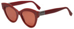 Fendi Designer Sunglasses PeekabooFF0266-C9A in Red 52mm