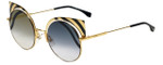 Fendi Designer Sunglasses FF0215-1KQ in Gold Stripe 53mm