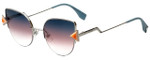 Fendi Designer Sunglasses FF0242-TJV in Silver Orange 52mm