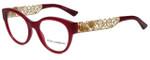 Dolce & Gabbana Designer Eyeglasses DG3184-2681 in Opal Bordeaux 50mm :: Progressive