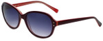 Candie's Designer Sunglasses Estele in Burgundy 56mm