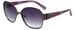 Candie's Designer Sunglasses Harper in Gunmetal 58mm