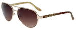 Candie's Designer Sunglasses Isabel in Gold 58mm