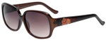 Candie's Designer Sunglasses Leigh in Transparent Brown 59mm