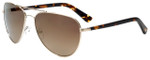 Oscar de la Renta Designer Sunglasses SSC4041-218 in Light Gold 59mm