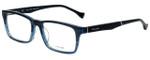 Police Designer Eyeglasses Close Up 5VPL055-0G32 in Blue Crystal 53mm :: Custom Left & Right Lens