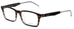 Police Designer Eyeglasses Close Up 5VPL055-0C00 in Brown Stripe 53mm :: Progressive