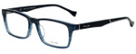 Police Designer Eyeglasses Close Up 5VPL055-0G32 in Blue Crystal 53mm :: Rx Bi-Focal