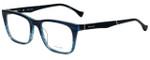 Police Designer Eyeglasses Close Up 6VPL056-0G32 in Blue Crystal 52mm :: Rx Bi-Focal