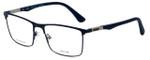 Police Designer Eyeglasses Brooklyn 5VPL394-01HL in Matte Blue 55mm :: Rx Bi-Focal