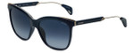 Police Designer Sunglasses Affair 2SPL621-07AC in Navy 56mm