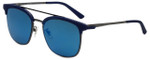 Police Designer Sunglasses Crossover in Blue Grey 54mm