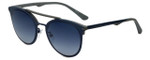 Police Designer Sunglasses Two Souls in Blue Grey 53mm