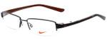 Nike Designer Eyeglasses 8064-055 in Shiny Dark Gunmetal 52mm :: Rx Single Vision