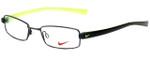 Nike Designer Eyeglasses 8071-001 in Black Chrome 48mm :: Rx Single Vision
