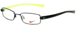 Nike Designer Eyeglasses 8071-001 in Black Chrome 48mm :: Rx Single Vision