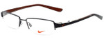 Nike Designer Eyeglasses 8064-055 in Shiny Dark Gunmetal 52mm :: Progressive
