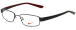 Nike Designer Reading Glasses 8063-051 in Shiny Dark Gunmetal 51mm