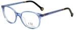 Carolina Herrera Designer Eyeglasses VHE612-095A in Blue 49mm :: Progressive