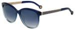 Carolina Herrera Designer Sunglasses SHE647-0N91 in Blue Gradient 54mm