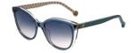 Carolina Herrera Designer Sunglasses SHE694-06MZ in Blue Crystal 54mm