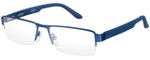 Carrera Designer Eyeglasses CA6657-0TRO-56 in Matte Blue 56mm :: Custom Left & Right Lens