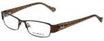 Lucky Brand Designer Eyeglasses Antigua-Brown in Brown 53mm :: Progressive