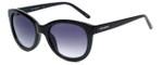 Lucky Brand Designer Reading Glasses D913 in Black with Purple Gradient Lens