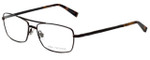 John Varvatos Designer Eyeglasses V148 in Antique Brown 56mm :: Progressive