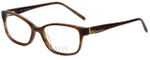 Elle Designer Eyeglasses EL13377-BR in Brown 52mm :: Custom Left & Right Lens