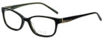 Elle Designer Eyeglasses EL13377-GN in Green 52mm :: Custom Left & Right Lens