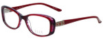Elle Designer Eyeglasses EL13385-RE in Red 51mm :: Custom Left & Right Lens