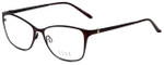 Elle Designer Eyeglasses EL13406-BU in Burgundy 53mm :: Custom Left & Right Lens