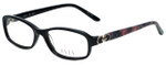 Elle Designer Eyeglasses EL13387-BK in Black 52mm :: Rx Single Vision