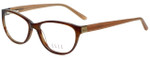 Elle Designer Eyeglasses EL13394-BR in Brown 53mm :: Rx Single Vision