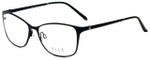 Elle Designer Eyeglasses EL13406-BK in Black 53mm :: Rx Single Vision