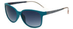 Elle Designer Sunglasses EL14819-GN in Green with Blue Gradient Lens