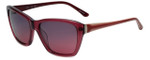Elle Designer Sunglasses El14834-PU in Purple with Purple Fade Lens