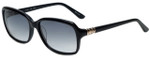 Elle Designer Sunglasses EL14836-BK in Black with Grey Gradient Lens