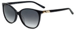 Elle Designer Sunglasses EL14842-BK in Black with Grey Gradient Lens