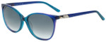 Elle Designer Sunglasses EL14842-BL in Blue with Grey Gradient Lens