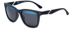 Police Designer Sunglasses Speed 1 in Rubber Grey with Blue Mirror Lens
