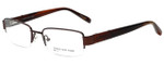 Jones New York Designer Eyeglasses J331 in Dark Chocolate Brown 52mm :: Custom Left & Right Lens