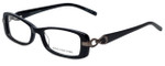 Jones New York Designer Eyeglasses J738 in Black 52mm :: Custom Left & Right Lens