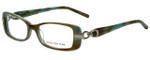 Jones New York Designer Eyeglasses J738 in Aqua Brown 52mm :: Rx Single Vision