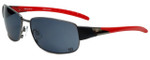 Wilson Designer Sunglasses Batter Major League Collection 1026 in Gunmetal with Grey Lens