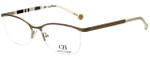 Carolina Herrera Designer Eyeglasses VHE060-0300 in White Gold 54mm :: Progressive